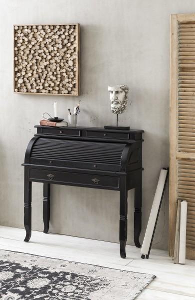 Kolonial Möbel Sekretär 100x106x41cm Akazie Massiv
