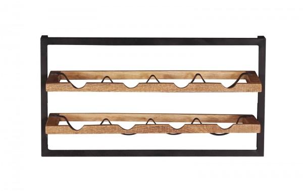 Vintage Massivholz Möbel Wandregal 65x35x25cm Mangoholz Metall