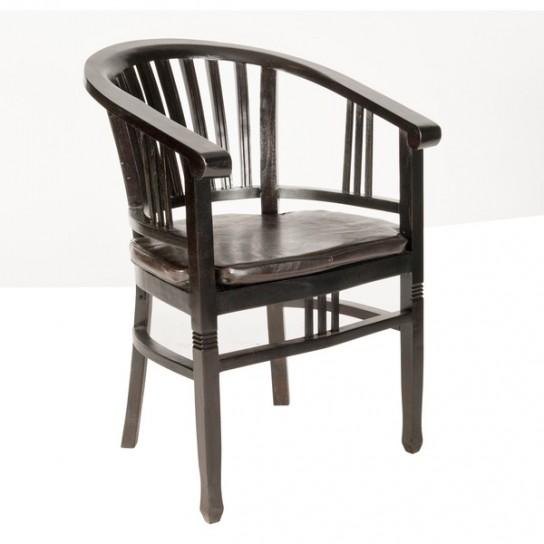 2er Set Kolonial Sessel 50x86x60cm Massiv