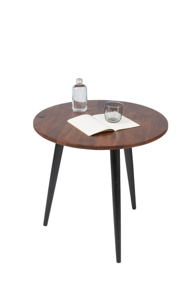 Massivholz Möbel Beistelltisch 50x50x50cm Mangoholz