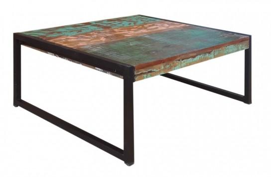 Vintage Möbel Couchtisch 70x35x70cm Massiv