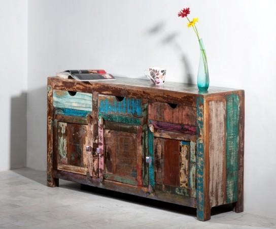 Vintage Möbel Sideboard 150x85x40cm Massiv