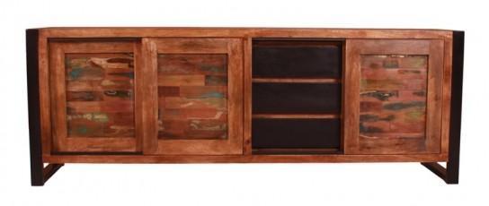 Vintage Massivholz Sideboard 180x65x40cm