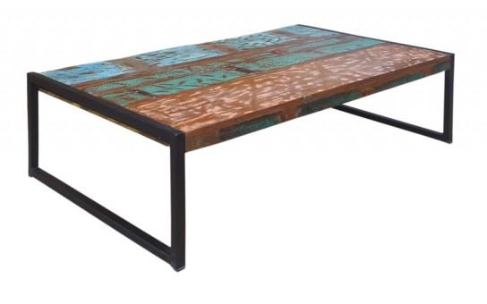 Vintage Möbel Massivholz Couchtisch 115x35x70cm