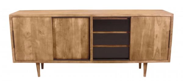 Massivholzmöbel Sideboard 180x75x40cm Akazienholz