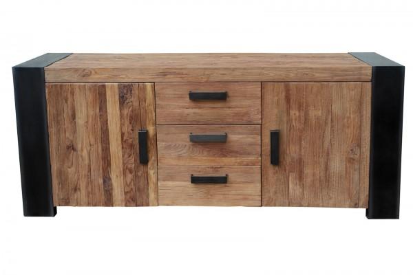 Sideboard 192x85x45cm Massivholz Möbel Antikfinish