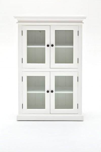 Büffet Regal Weiß 90x130x40cm Massiv