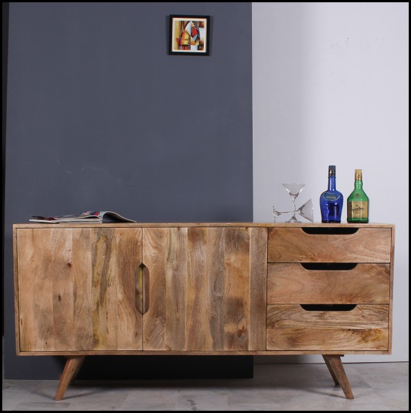 Massivholz Möbel Sideboard 150x76x40cm