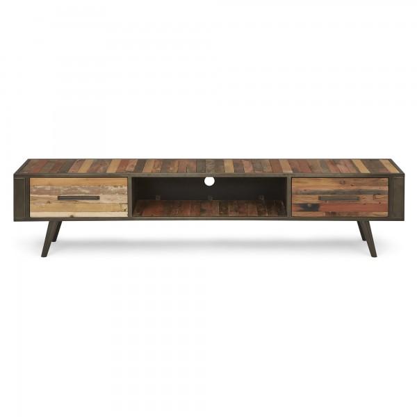 TV Board Sideboard Bootsholz Metall 200x45x45cm Massiv