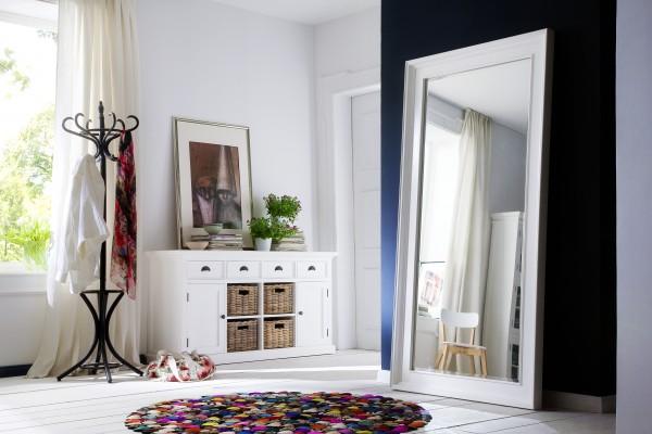 Spiegel Weiß 200x100x7cm Massiv