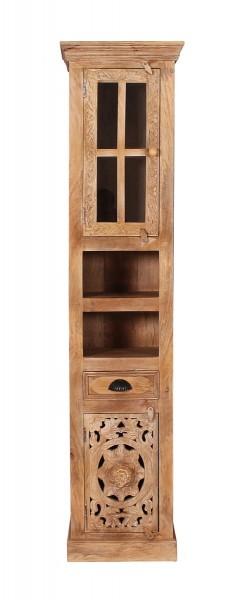 Vintage Massivholz Möbel Hochschrank 44x188x35cm