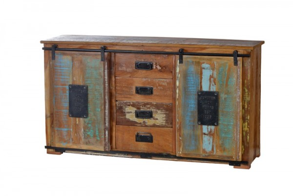 Vintage Möbel Sideboard Massiv 150x81x38cm