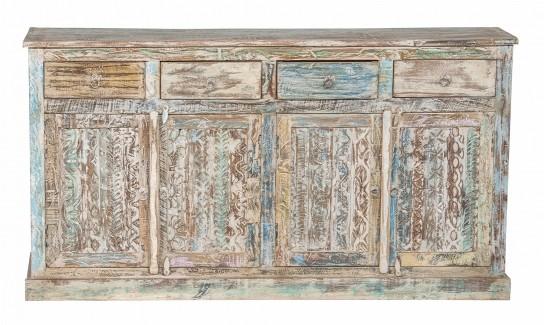 Shabby Chic Möbel Sideboard weiß 170x90x40cm