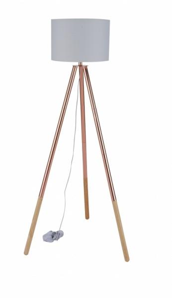 Stehleuchte Hellgrau Gestell Metall 65x154x65cm