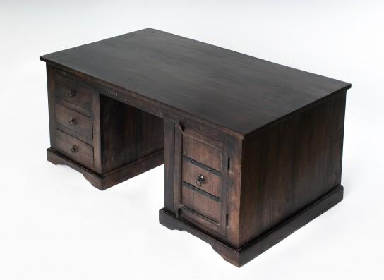 Kolonial Schreibtisch 150x76x85cm Massiv