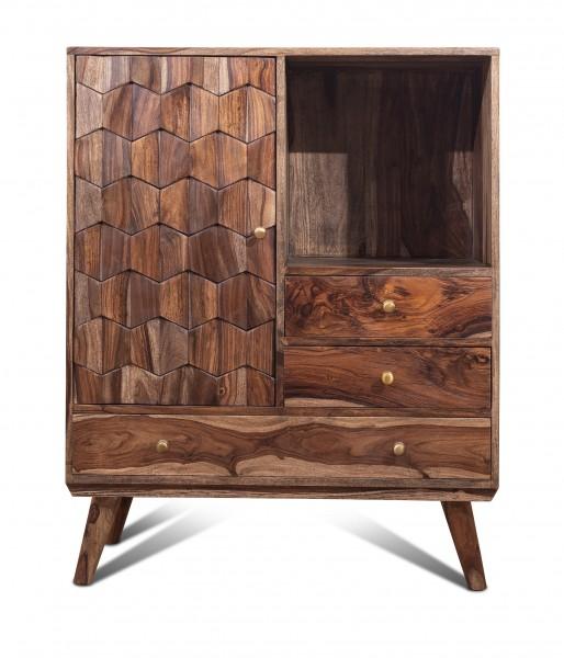 Vintage Massivholz Kommode Akazie 95x106x40cm
