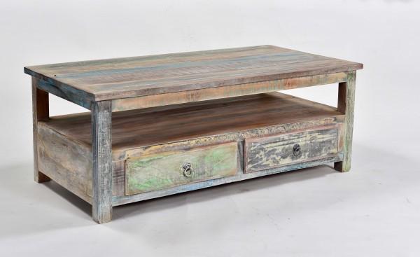Shabby Chic Möbel Couchtisch 110x45x60cm Massiv