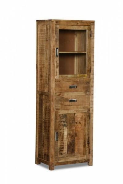 Massivholz Möbel Vitrine 60x180x40cm