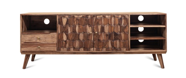 Vintage Massivholz TV Board Lowboard Akazie 175x65x45cm