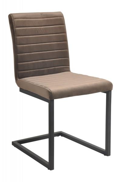 2x Stuhl aus massivem Stahl Braun 56x89x45cm