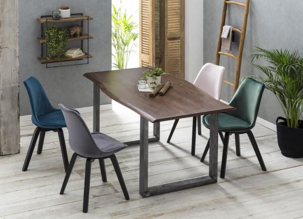 Tisch 85x160cm Akazienholz Klar-Matt Nußbaum