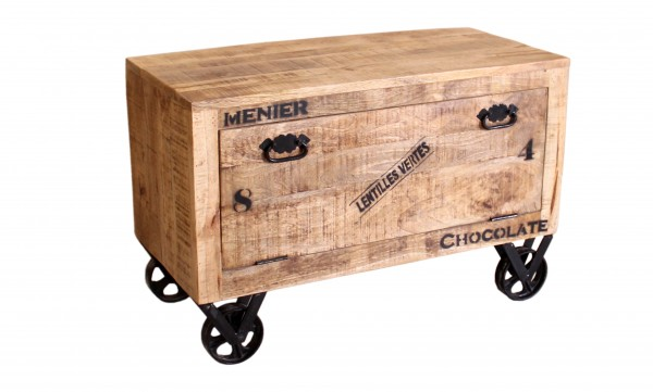 Vintage Schuhschrank 85x56x40cm Massiv