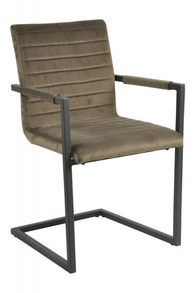 2x Sessel aus massivem Stahl Braun 54,5x88,5x58cm