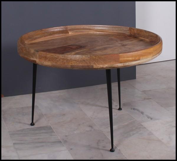 Massivholz Möbel Beistelltisch 90x45x90cm Vintage