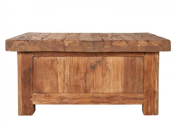 Teakholz Möbel Couchtisch 85x40x85cm Massiv