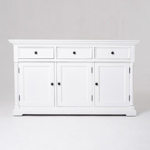 Sideboard Weiß 145x85x50cm Mahagoni Massiv