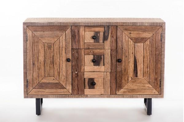 Massivholz Sideboard 150x60x35cm recyceltes Teak
