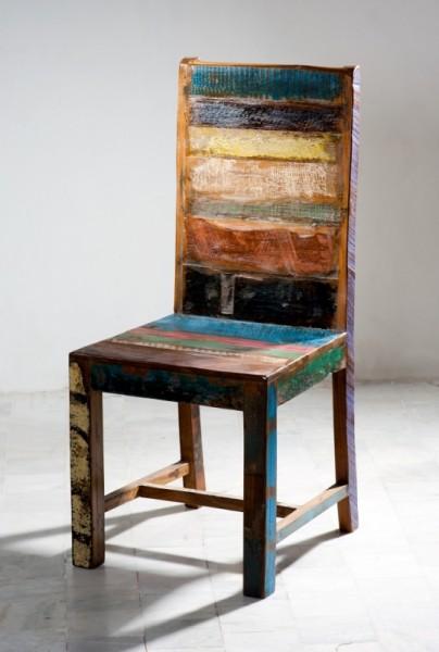 6er Set Vintage Stuhl 48x102x46cm Massiv