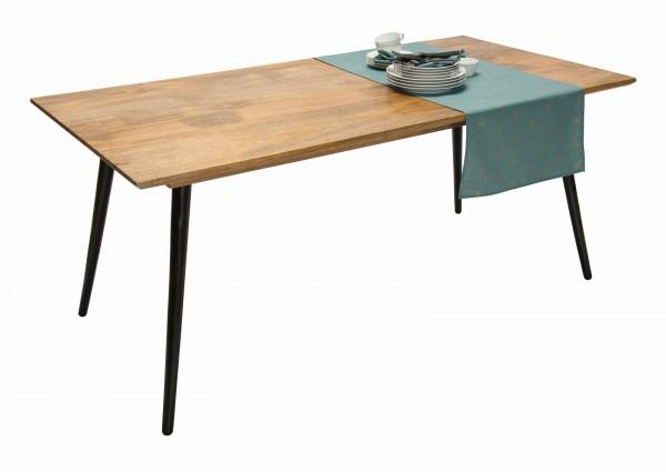Massivholz Möbel Tisch 140x77x80cm Mangoholz