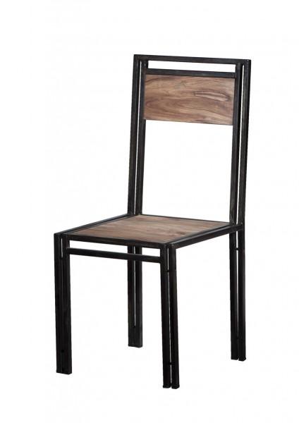 4x Mangoholz Stuhl 45x100x45cm