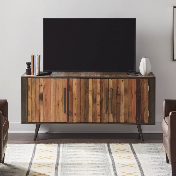 TV Board Sideboard Bootsholz Metall 160x77x45cm Massiv