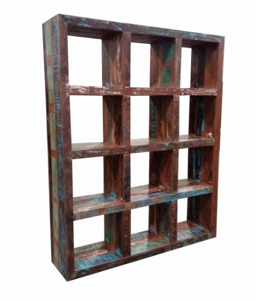 Vintage Möbel Cube Regal 145x180x35cm Massivholz