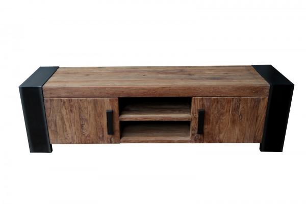 Lowboard 187x52x50cm Teakholz Möbel Massiv Antikfinish