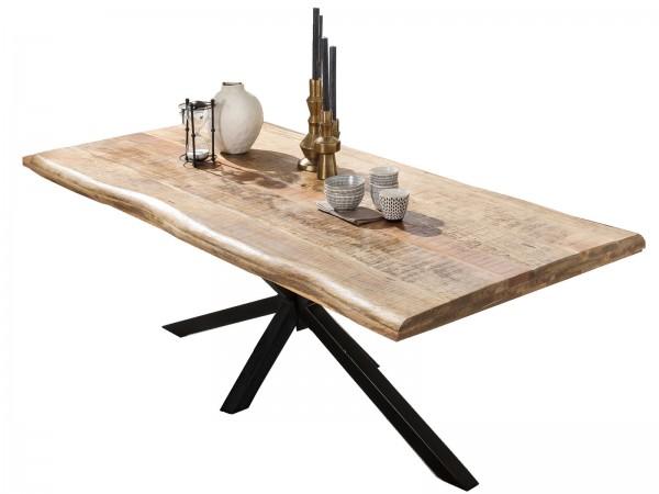 Tisch 90x160cm Mangoholz Natur Antikschwarz