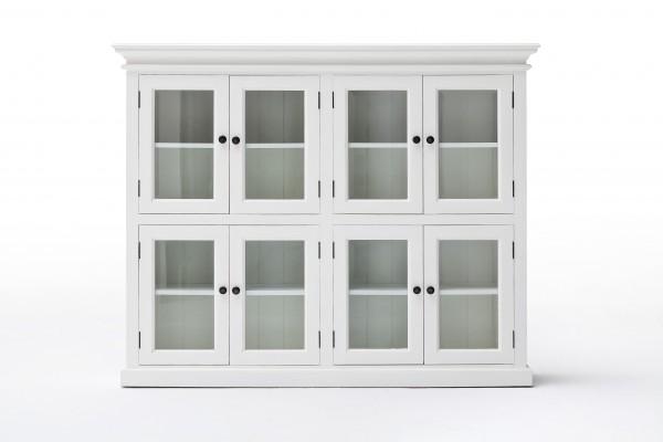 Bücherregal Büffet Weiß 165x132x40cm Massiv