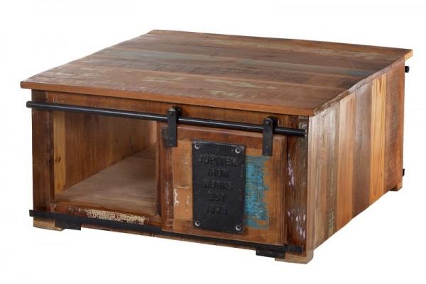 Vintage Möbel Couchtischtruhe Massiv 80x40x80cm