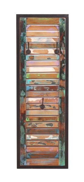 Vintage Massivholz Garderobenpaneel 33x99x8cm