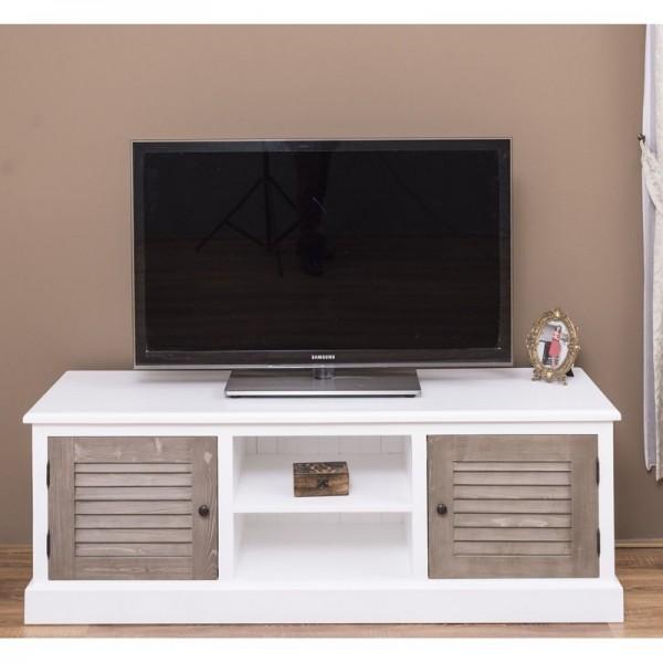 Lowboard Weiß Kiefernholz Massiv 160x56x46cm