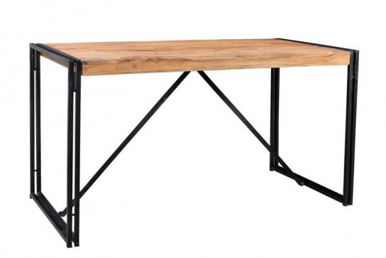 Mango Möbel Metall Tisch 140x76x70cm Massiv