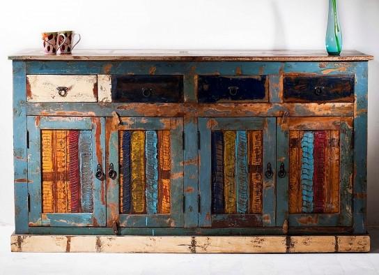 Vintage Möbel Kommode 165x90x45cm Massiv