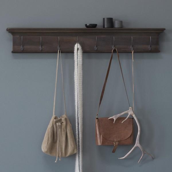 Garderoben-Brett Natur Teakholz 130x20x10cm Massiv