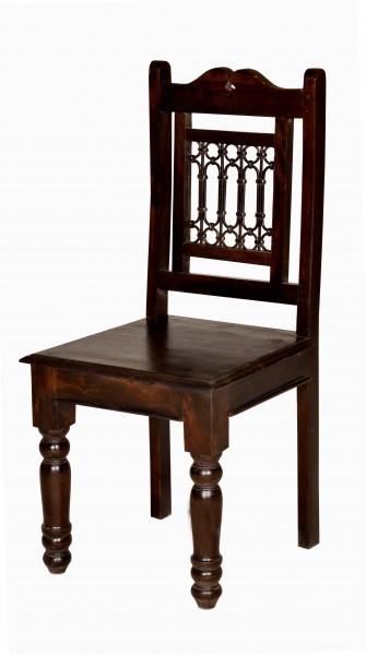 6er Set Kolonial Stuhl 44x98x45cm Massivholzmöbel