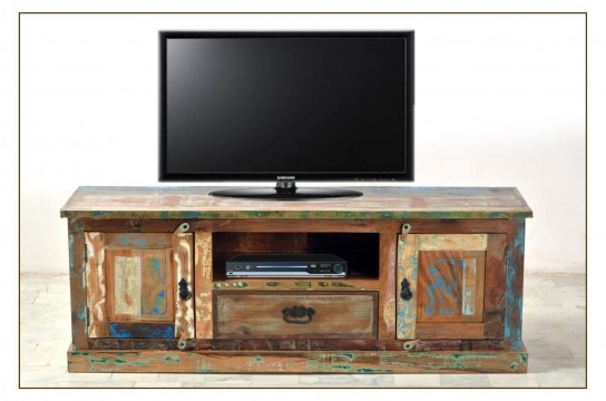 Shabby Chic TV Board 140x50x40cm Massivholz