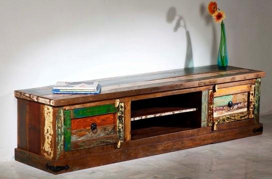 Vintage Möbel Lowboard TV Board 180x45x45cm Massiv