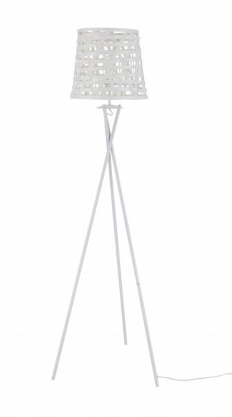 Stehleuchte Weiß Gestell Metall 51x164x45cm