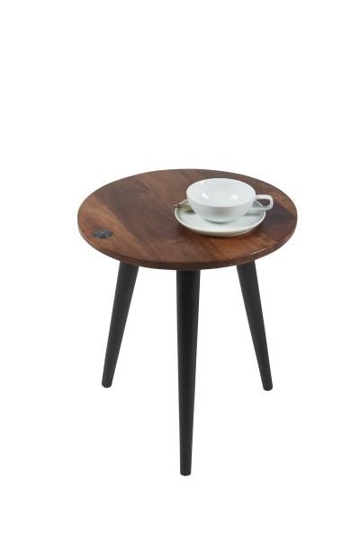 Massivholz Möbel Beistelltisch 40x46x40cm Mangoholz